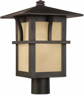 Seagull 82880EN3-51 Medford Lakes Craftsman Statuary Bronze LED Exterior Lamp Post Light