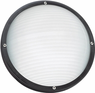 Seagull 83057EN3-12 Bayside Contemporary Black LED Outdoor Wall Lamp
