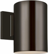 Seagull 8313801-10/T Outdoor Cylinders Modern Bronze LED Outdoor 7.25 Sconce Lighting