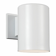 Seagull Outdoor Bullets Modern White Outdoor Wall Light Sconce