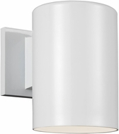 Seagull 8313801-15/T Outdoor Cylinders Modern White LED Exterior 7.25 Light Sconce