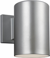 Seagull 8313801-753/T Outdoor Cylinders Modern Painted Brushed Nickel LED Outdoor 7.25 Lighting Sconce
