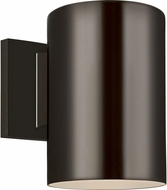 Seagull 8313801EN3-10 Outdoor Cylinders Contemporary Bronze LED Exterior 7.25 Lamp Sconce