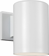 Seagull 8313801EN3-15 Outdoor Cylinders Modern White LED Outdoor 7.25 Wall Sconce Lighting