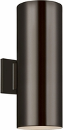 Seagull 8313802EN3-10 Outdoor Cylinders Modern Bronze LED Outdoor 14.25 Lighting Wall Sconce