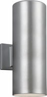 Seagull 8313802EN3-753 Outdoor Cylinders Contemporary Painted Brushed Nickel LED Outdoor 14.25 Wall Sconce Lighting