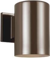 Seagull 8313897S-10 Outdoor Cylinders Modern Bronze LED Exterior 7.25 Wall Mounted Lamp