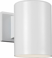 Seagull 8313897S-15 Outdoor Cylinders Modern White LED Outdoor 7.25 Wall Light Sconce