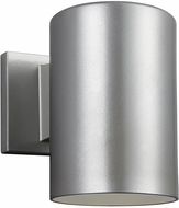 Seagull 8313897S-753 Outdoor Cylinders Contemporary Painted Brushed Nickel LED Exterior 7.25 Wall Lighting Fixture