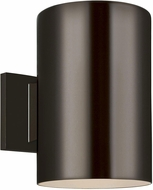 Seagull 8313901-10/T Outdoor Cylinders Modern Bronze LED Outdoor 9 Wall Light Sconce