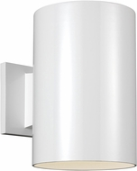 Seagull 8313901-15/T Outdoor Cylinders Contemporary White LED Exterior 9 Wall Sconce Light