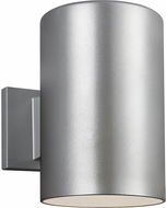 Seagull 8313901-753/T Outdoor Cylinders Modern Painted Brushed Nickel LED Outdoor 9 Wall Sconce