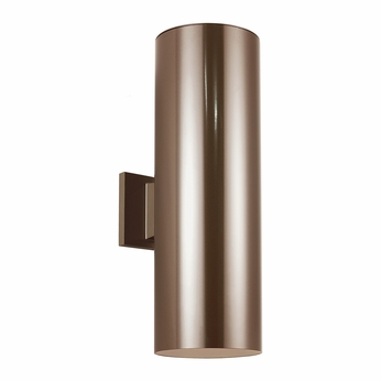 Seagull 8313902-10 Outdoor Bullets Modern Bronze Outdoor Light Sconce