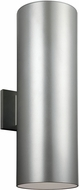 Seagull 8313902-753 Outdoor Bullets Modern Painted Brushed Nickel Outdoor Lamp Sconce