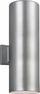 Seagull 8313902EN3-753 Outdoor Cylinders Contemporary Painted Brushed Nickel LED Outdoor 18.25 Lamp Sconce