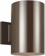 Seagull 8313997S-10 Outdoor Cylinders Contemporary Bronze LED Exterior 9 Wall Sconce Lighting