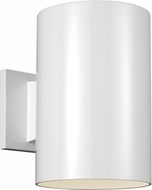 Seagull 8313997S-15 Outdoor Cylinders Contemporary White LED Outdoor 9 Wall Light Fixture