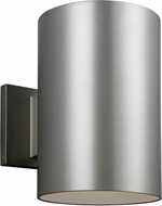 Seagull 8313997S-753 Outdoor Cylinders Modern Painted Brushed Nickel LED Exterior 9 Lighting Wall Sconce