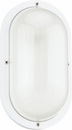 Seagull 8335-15 Bayside Contemporary White Exterior Wall Sconce Lighting