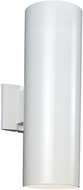 Seagull 8413891S-15 Outdoor Bullets Modern White LED Outdoor Wall Light Fixture