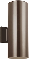 Seagull 8413897S-10 Outdoor Cylinders Modern Bronze LED Outdoor 14.25 Wall Lighting Fixture