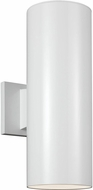 Seagull 8413897S-15 Outdoor Cylinders Modern White LED Exterior 14.25 Wall Light Sconce