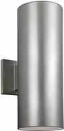 Seagull 8413897S-753 Outdoor Cylinders Contemporary Painted Brushed Nickel LED Outdoor 14.25 Wall Sconce Light