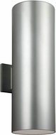 Seagull 8413991S-753 Outdoor Bullets Modern Painted Brushed Nickel LED Outdoor Wall Mounted Lamp