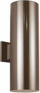 Seagull 8413997S-10 Outdoor Cylinders Modern Bronze LED Exterior 18.25 Wall Sconce