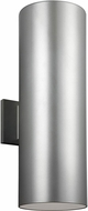 Seagull 8413997S-753 Outdoor Cylinders Contemporary Painted Brushed Nickel LED Exterior 18.25 Wall Lighting