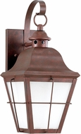 Seagull 8462D-44 Chatham Traditional Weathered Copper Exterior 14.5 Lamp Sconce