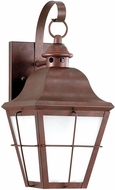 Seagull 8462DEN3-44 Chatham Traditional Weathered Copper LED Outdoor 14.5 Wall Sconce Lighting