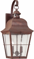 Seagull 8463-44 Chatham Traditional Weathered Copper Exterior 21 Wall Light Fixture