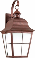 Seagull 8463DEN3-44 Chatham Traditional Weathered Copper LED Outdoor 21 Wall Sconce Lighting