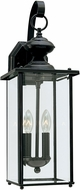 Seagull 8468-12 Jamestowne Traditional Black Outdoor Wall Light Sconce