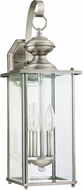 Seagull 8468-965 Jamestowne Traditional Antique Brushed Nickel Outdoor Wall Light Sconce