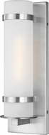 Seagull 8518301-04 Alban Contemporary Satin Aluminum Outdoor Small Lighting Wall Sconce