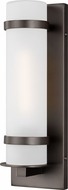 Seagull 8518301EN3-71 Alban Modern Antique Bronze LED Exterior Small Wall Mounted Lamp