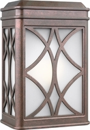 Seagull 8519601EN3-44 Melito Contemporary Weathered Copper LED Outdoor Wall Light Fixture