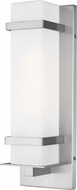 Seagull 8520701-04 Alban Contemporary Satin Aluminum Outdoor Small Wall Light Sconce