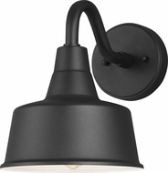 Seagull 8537401-12 Barn Light Contemporary Black Outdoor Small Wall Sconce