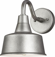 Seagull 8537401-57 Barn Light Modern Weathered Pewter Exterior Small Wall Lamp