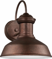 Seagull 8547701-44/T Fredricksburg Contemporary Weathered Copper LED Exterior Wall Sconce Lighting