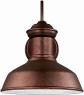 Seagull 8547701EN3-44 Fredricksburg Contemporary Weathered Copper LED Exterior Lighting Wall Sconce