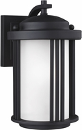 Seagull 8547901EN-12 Crowell Contemporary Black LED Outdoor Wall Lighting Sconce