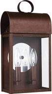 Seagull 8614802EN-44 Conroe Traditional Weathered Copper LED Exterior Wall Light Sconce