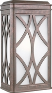 Seagull 8619601EN3-44 Melito Contemporary Weathered Copper LED Exterior Lamp Sconce