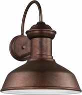 Seagull 8647701-44/T Fredricksburg Contemporary Weathered Copper LED Outdoor Wall Sconce Light