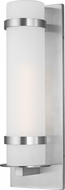 Seagull 8718301-04 Alban Contemporary Satin Aluminum Outdoor Large Wall Lighting Sconce