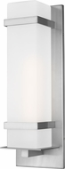 Seagull 8720701EN3-04 Alban Contemporary Satin Aluminum LED Outdoor Large Wall Sconce Light